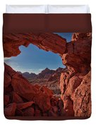 Window On The Valley Of Fire Duvet Cover