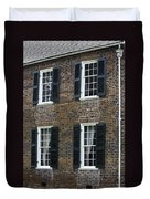 Windows At The Clover Hill Tavern Appomattox Virginia Duvet Cover