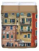 Windows Of Camogli Duvet Cover