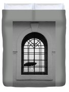Windows On The Beach In Black And White Duvet Cover
