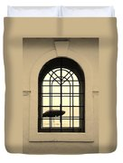 Windows On The Beach In Sepia Duvet Cover