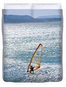 Windsurfer, Baja, Mexico Duvet Cover