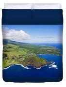 Windward Maui Aerial II Duvet Cover