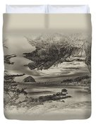 Windy Cove Bw Duvet Cover