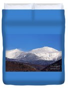 Windy Day At Mt Washington Duvet Cover