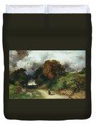 Windy Hilltop Duvet Cover by Thomas Moran