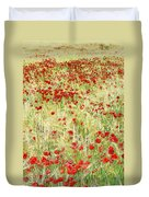 Windy Poppies Duvet Cover
