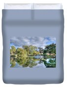 Winery Pond Duvet Cover