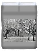 Winter At The Edge Of The Woods Duvet Cover
