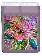 Winter Bloom Duvet Cover