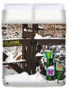 Winter Butterflies Duvet Cover