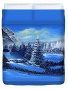 Winter Cabin Duvet Cover