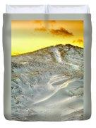 Winter Cape Cod Sunset Duvet Cover