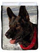 Winter Dog Duvet Cover by Karol Livote