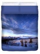 Winter Evening Clouds Duvet Cover