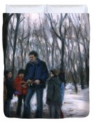 Winter Explorers Duvet Cover