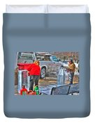Winter Fest Ice Sculpting Duvet Cover