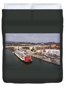 Winter In Coolidge Park Duvet Cover