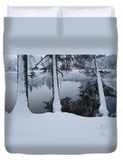 Winter In The Countryside  Bold Tree Duvet Cover