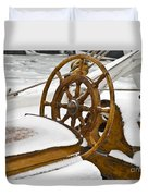 Winter On Board Duvet Cover by Heiko Koehrer-Wagner