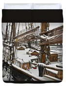 Winter On Deck Duvet Cover
