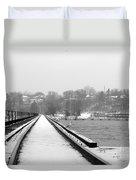 Winter Rails Duvet Cover