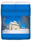 Winter Smoke House Duvet Cover