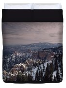 Winter Snow Covers The Landscape Duvet Cover