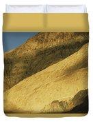 Winter Sunlight On Desert Mountains Duvet Cover