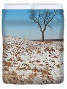 Winter Tree Nachusa Grasslands Duvet Cover