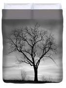 Winter Tree Silhouette Duvet Cover
