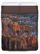 Winter View Of Bryce Canyon National Duvet Cover