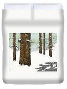 Wintering Pines Duvet Cover