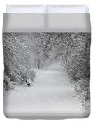 Winter's Trail Duvet Cover