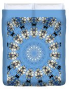 Wire Flowers And Butterflies Duvet Cover