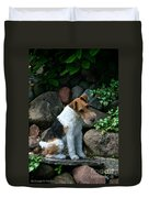 Wirehair Fox Terrier Duvet Cover