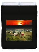 Wisconsin Farm Duvet Cover