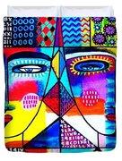 Wisdom Fractal Goddesses Duvet Cover