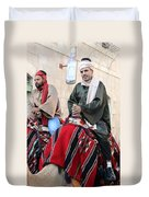 Wisemen On Their Camels Duvet Cover