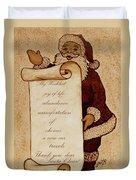 Wishlist For Santa Claus  Duvet Cover by Georgeta  Blanaru