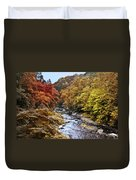 Wissahickon Creek In Fall Duvet Cover