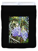 Wisteria And Wagon Wheel Duvet Cover