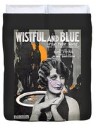 Wistful And Blue Duvet Cover by Mel Thompson