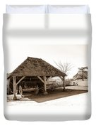 Wiston Wagon Shed Duvet Cover by Dawn OConnor