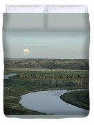 With A Full Moon Rising, The Meandering Duvet Cover
