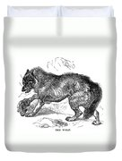 Wolf Attack Duvet Cover
