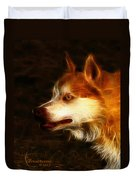 Wolf Or Husky - First Place Win In 'angry Dog Contest' Duvet Cover