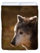 Wolf Outlined By The Sun Duvet Cover