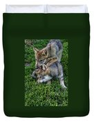 Wolf Play Duvet Cover