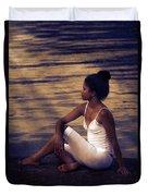Woman At A Lake Duvet Cover by Joana Kruse